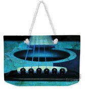Edgy Abstract Eclectic Guitar 16 Weekender Tote Bag by Andee Design