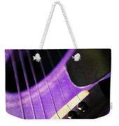 Edgy Purple Guitar  Weekender Tote Bag