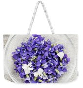 Edible Violets  Weekender Tote Bag