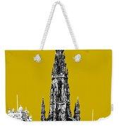 Edinburgh Skyline Scott Monument - Gold Weekender Tote Bag