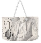 Edison And Electric Lamp Patent Weekender Tote Bag