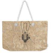 Edison Electric Lamp Patent Marble Weekender Tote Bag