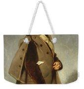 Edmond Dehodencq Wearing An Inverness Cape Weekender Tote Bag