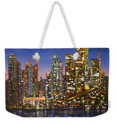 Edmonton Night Lights Weekender Tote Bag