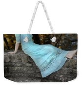 Edwardian Girl On A Stone Wall Weekender Tote Bag