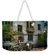 Edwardian Lady By Car Weekender Tote Bag