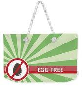 Egg Free Banner Weekender Tote Bag