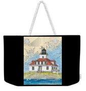 Egg Rock Lighthouse Me Nautical Chart Map Art Weekender Tote Bag