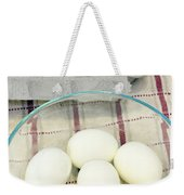 Eggs Boiled And Raw Weekender Tote Bag