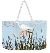 Egret And Coot In Autumn Weekender Tote Bag
