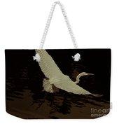 Egret Fractalius Weekender Tote Bag