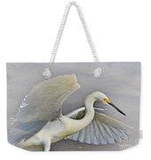 Egret Grace At The Beach Weekender Tote Bag