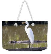 Egret Has A Lot To Say I Weekender Tote Bag