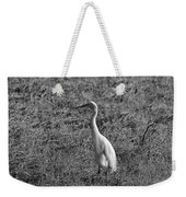 Egret In Black And White Weekender Tote Bag