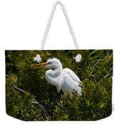 Egret In Bushes Weekender Tote Bag