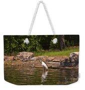 Egret In Central Park Weekender Tote Bag
