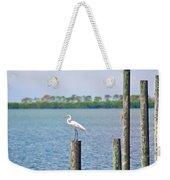 Egret In Dunedin Florida Weekender Tote Bag