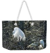 Egret In Full Display Lake Martin Louisiana Weekender Tote Bag
