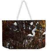 Egret In Hiding Weekender Tote Bag
