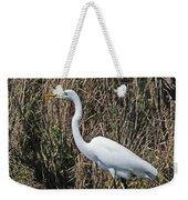 Egret In Marsh In Display  Weekender Tote Bag