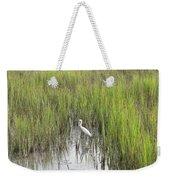 Egret In The Marsh Weekender Tote Bag
