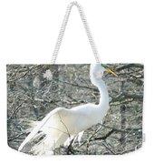 Egret Lake Martin Louisiana Rookery Weekender Tote Bag