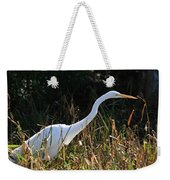 Egret On The Move Weekender Tote Bag