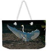 Egret Showing Off Weekender Tote Bag