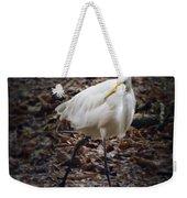 Egret Strut Weekender Tote Bag