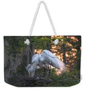 Egrets At Nest Weekender Tote Bag