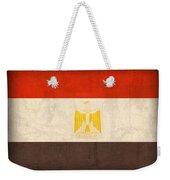 Egypt Flag Distressed Vintage Finish Weekender Tote Bag