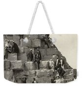 Egypt: Pyramid Tourists Weekender Tote Bag