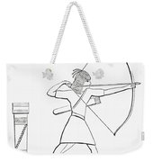 Egyptian Archer And Quiver.  From The Imperial Bible Dictionary, Published 1889 Weekender Tote Bag