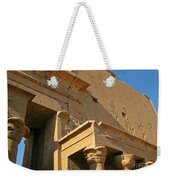 Egyptian Temple Architectural Detail Weekender Tote Bag