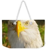 Bald Eagle Head Shot Two Weekender Tote Bag
