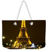 Eiffel At Night Weekender Tote Bag