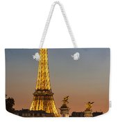 Eiffel At Twilight Weekender Tote Bag