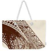 Eiffel In Sepia Weekender Tote Bag