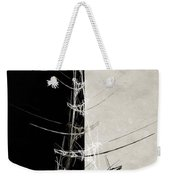 Eiffel Tower Abstract Bw Weekender Tote Bag