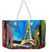 Eiffel Tower And The Red Visitors Weekender Tote Bag