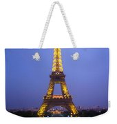 Eiffel Tower At Dusk Weekender Tote Bag