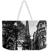 Eiffel Tower Black And White Weekender Tote Bag