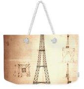 Eiffel Tower Design Weekender Tote Bag