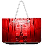 Eiffel Tower In Red Weekender Tote Bag