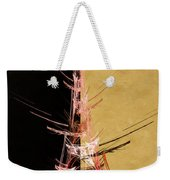 Eiffel Tower In Red On Gold  Abstract  Weekender Tote Bag