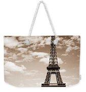 Eiffel Tower In Sepia Weekender Tote Bag