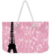 Eiffel Tower - Love In Paris Weekender Tote Bag