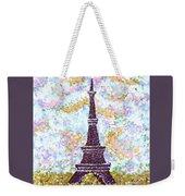 Eiffel Tower Pointillism Weekender Tote Bag