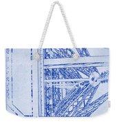 Eiffel Towers Steel Frame Blueprint Weekender Tote Bag