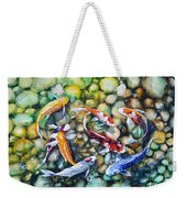 Eight Koi Fish Playing With Bubbles Weekender Tote Bag